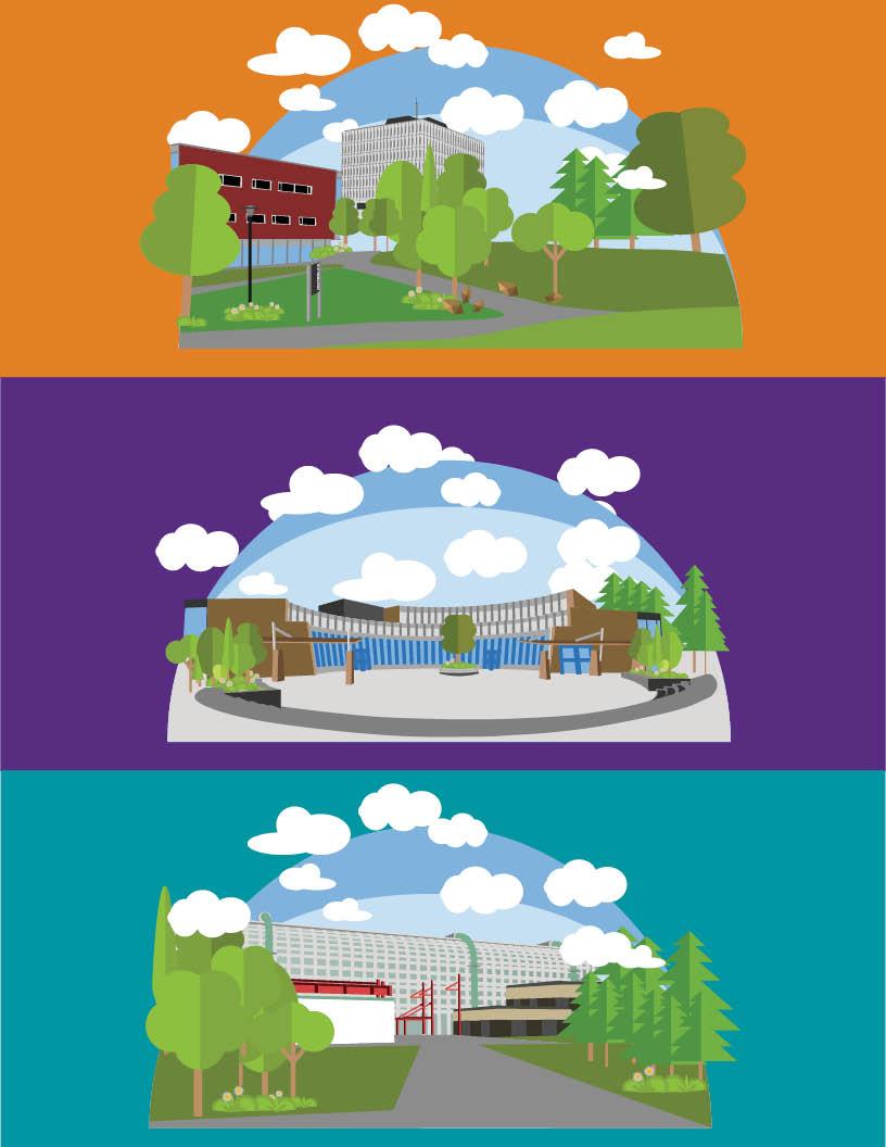 Flat UWaterloo campus designs