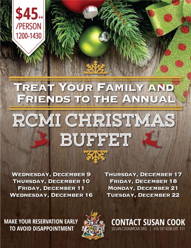 RCMI christmas buffet poster