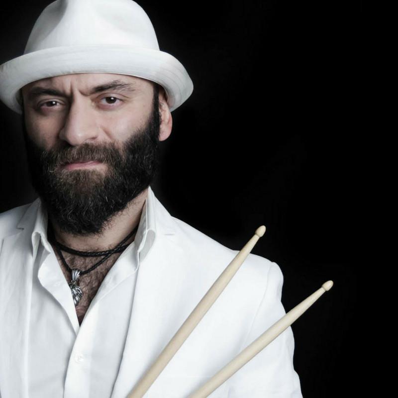 EMRAH KOTAN drummer performing at Jazz in the Alley Downtown Norcross GA