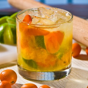 Honey Kumquat Caipirinha