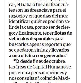 Diario Clarín: Grupo Traslada ofrece soluciones a empresas que precisen continuar con Home Office.