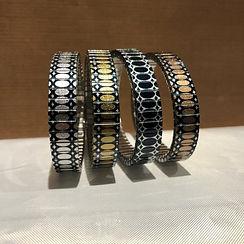 Ovals Stretched metallic bracelets by Urband London