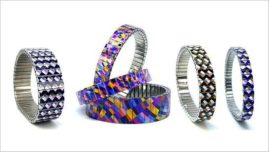 Checkers Orange bracelets by Urband London