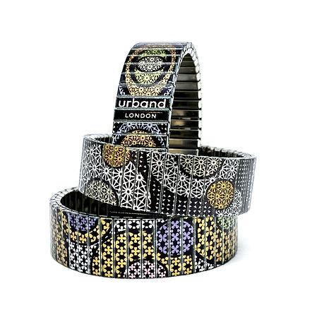 Stars Flowers & Stars Triangled Bracelets by Urband London