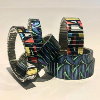 metallic finish bracelets by Urband London