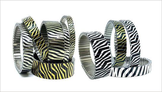 Zebra bracelets by Urband London