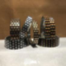 Checkers Orange bracelets by Urband London by Urband London