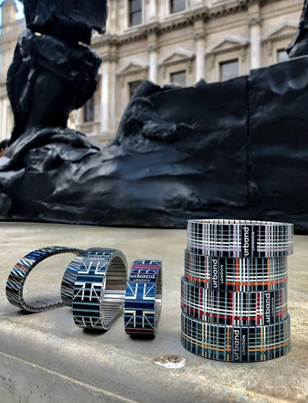 Urband London bracelets tower posing at the National Gallery London