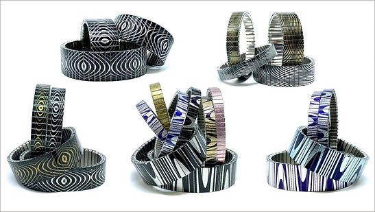 Waves Lines bracelets by Urband London