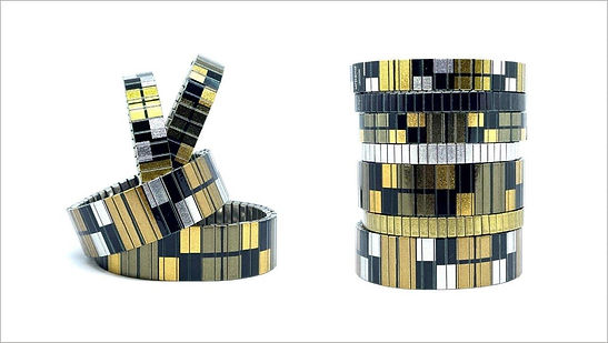 Squares Party bracelets by Urband London
