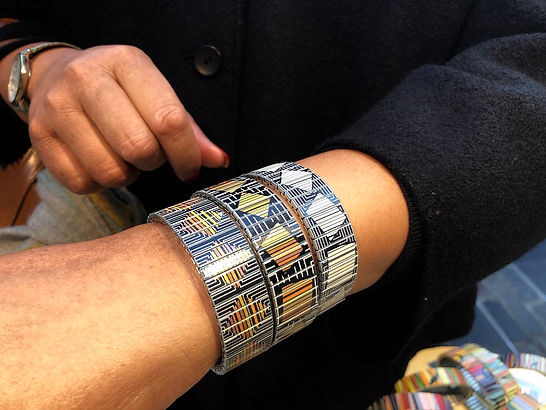 Urband London clients wearing Mosaic Special braclets