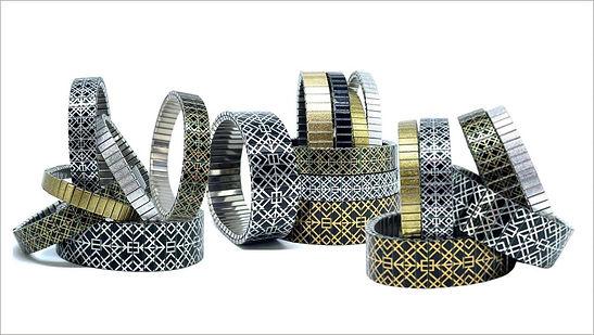 Squares Tiles bracelets by Urband London