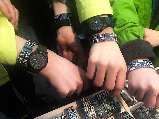 Urband London - Young clients wearing their new bracelets