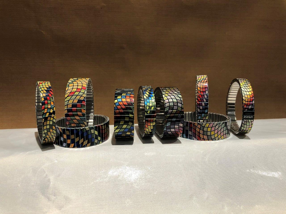 A selection from the beautiful and color rich Waves Mosaic bracelets