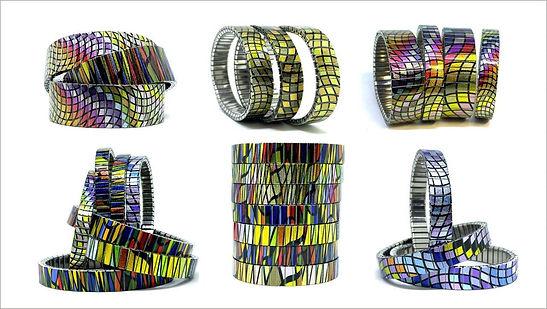 Waves Mosaic bracelets by Urband London