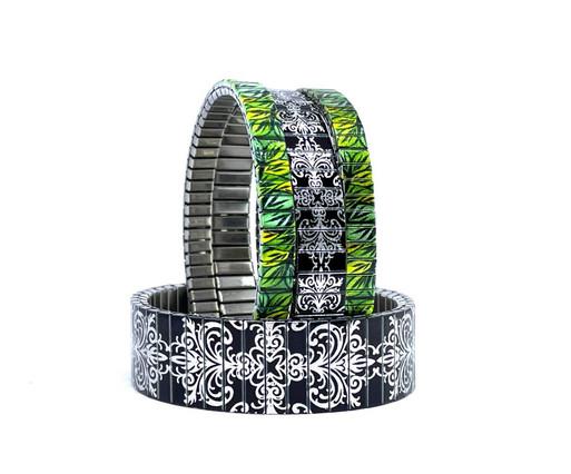 Tiles + Flowers Daisies bracelets