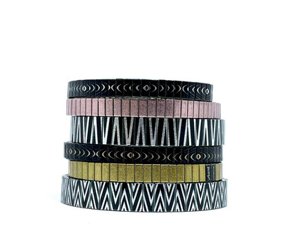 Waves Lines and Polygon Tiles + Solo bracelets by Urband London