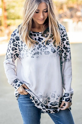 Long Sleeved Leopard Tunic