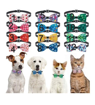 Seasonal Pet Bow Ties