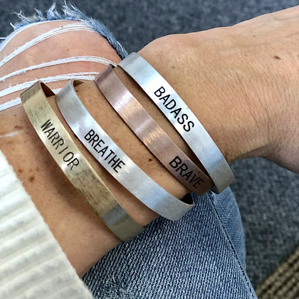 Choose Your Word - Brushed Copper Cuff