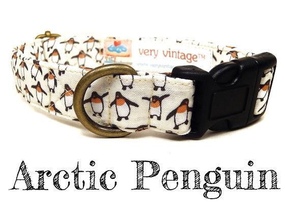 Arctic Penguin Dog Collar - Medium