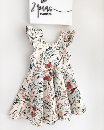 6faa83096e1a baby girl floral dress, toddler girl dress, floral baby dress, spring baby  dress ...