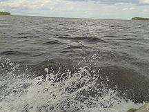 Волна на Рыбинском водохранилище