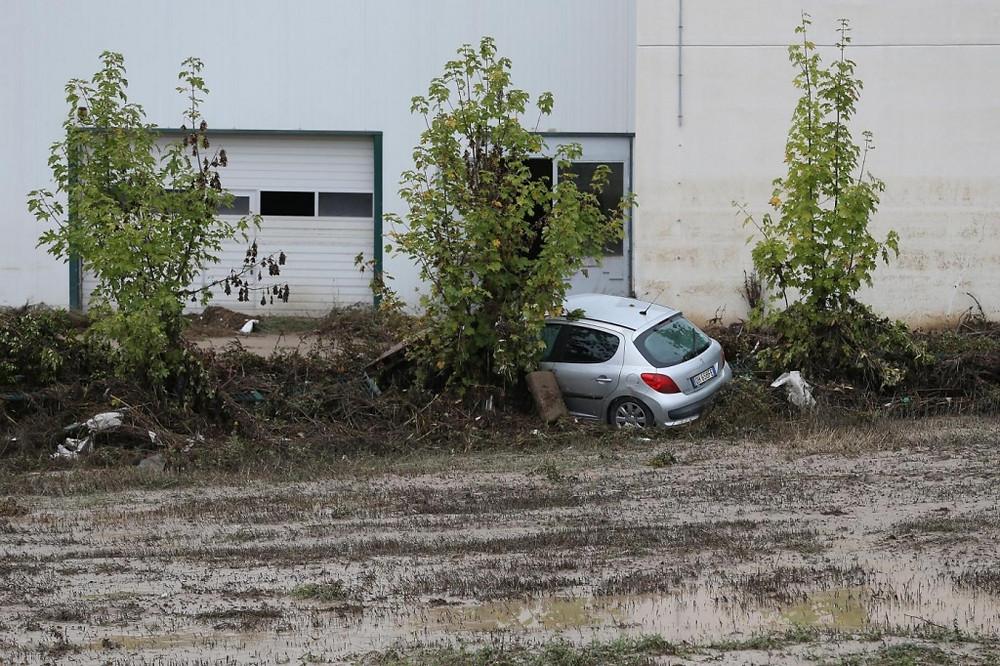 I danni dopo l'alluvione nel beneventano
