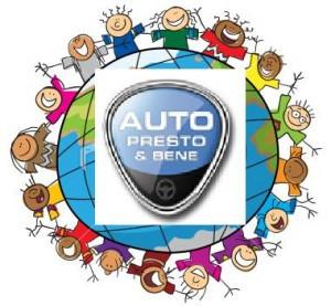 La catena umana attorno lo stand Auto Presto & Bene all Autopromotec di Bologna