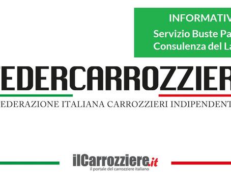 Informativa: Servizio Buste Paga e Consulenza del Lavoro – Federcarrozzieri