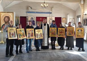 Иконы наших выпускников переданы в храм в Ясеневе