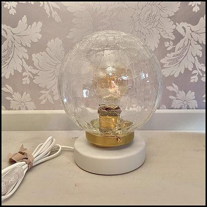 "lampe de table ""globe"" vintage"