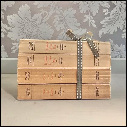 4 livres vintage Marcel Pagnol