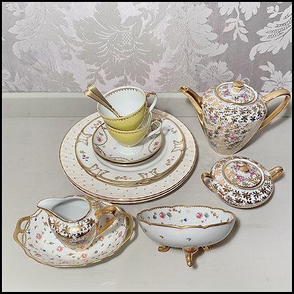 """set pour le thé """"en duo"""" vintage"""