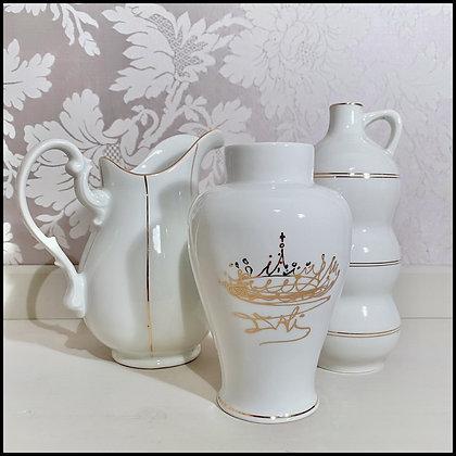 set déco 3 cruche / vases / fiole