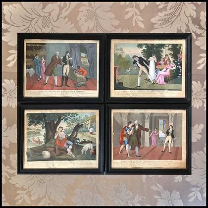 """4 gravures """"L'enfant prodigue""""."""