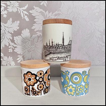 set déco 3 pots vintage