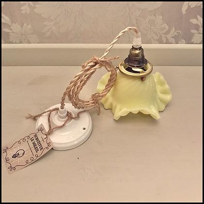 suspension opaline vintage