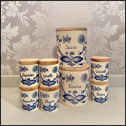 set déco 8 pots de cuisine vintage