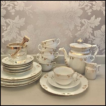 set thé vintage en porcelaine Vieux Paris.