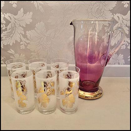 set drink, vintage