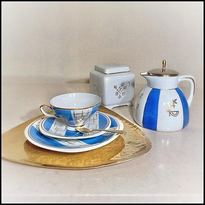 """set pour le thé """"en solo"""" vintage"""