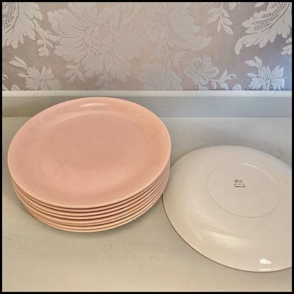 assiettes céramique rose