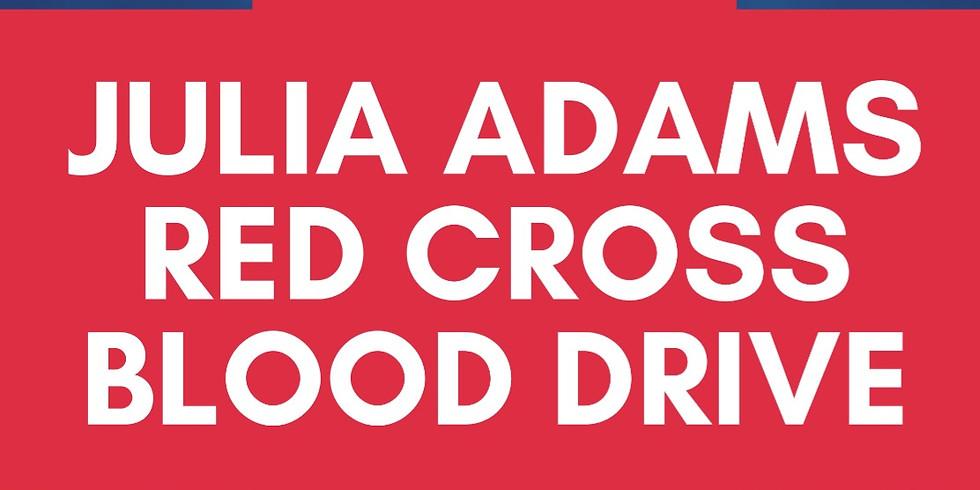 Julia Adams Red Cross Blood Drive