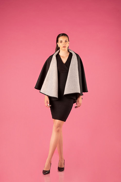 Sumaj Cape reversible - Anthrazit/Grau