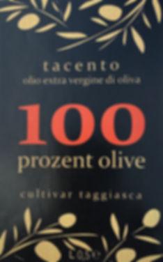 Bestes Olivenöl kaufen von tacento100 - Feinschmecker Öl