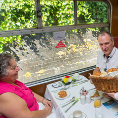 Corporate family day out on a private charter train.