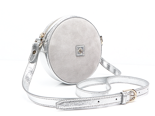 Sol Bag Mini - Silver / Grey Suede