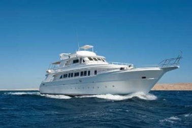 A picture of a yacht representing yachts sold by United City Yachts.