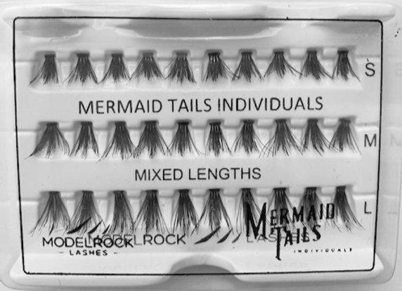 Modelrock individual Eyelashes - Mermaid Tail mixed lengths